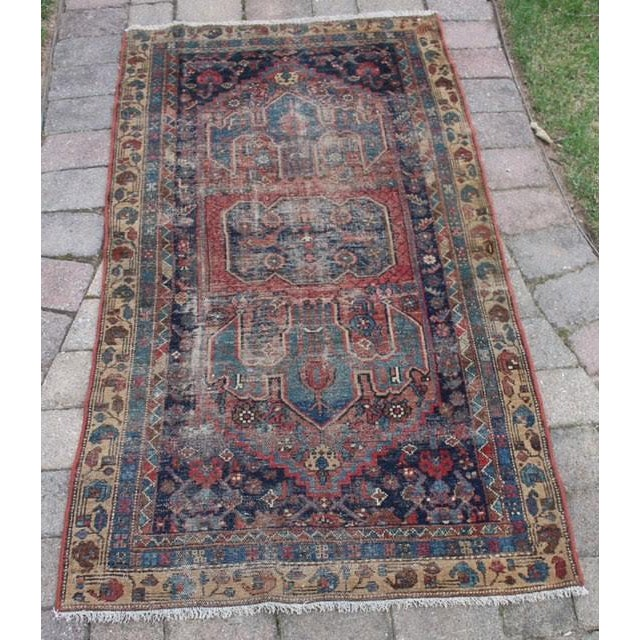 """Antique Persian Rug - 3'6"""" x 6'2"""" - Image 2 of 8"""