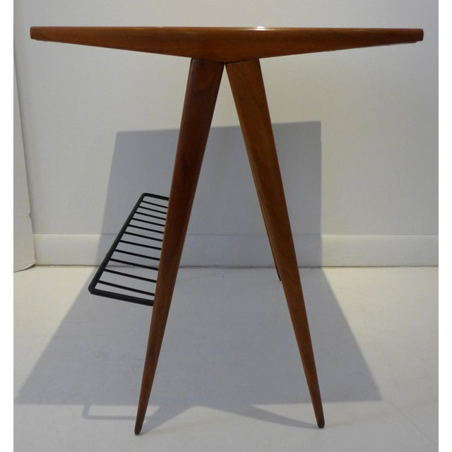 Side Table with Magazine Rack by Arthur Umanoff For Sale In New York - Image 6 of 9