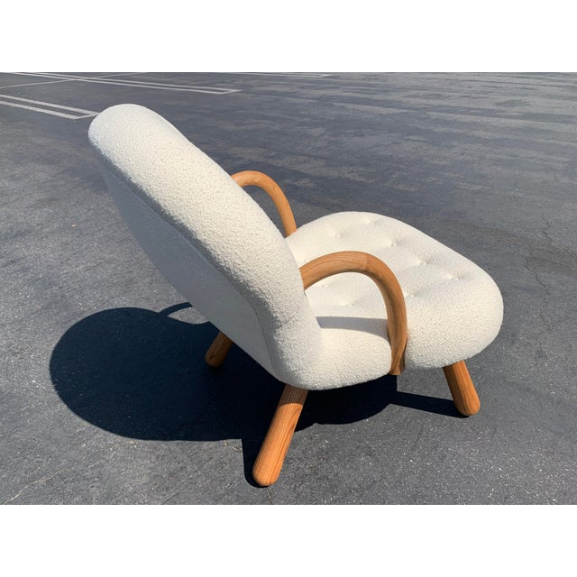 """2020s Philip Arctander Style """"Clam"""" Chair For Sale - Image 5 of 10"""