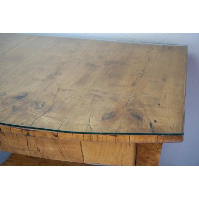 Biedermeier 19th Century Austrian Biedermeier Birch Antique Pier Table For Sale - Image 3 of 13