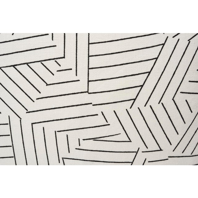 This geometric Deconstructed Stripe print, in collaboration with Miles Redd, is an homage to the legendary decorator...