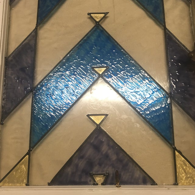 Arts & Crafts 1890s Antique Arts and Crafts Stained Glass Window Architectural Salvage For Sale - Image 3 of 13
