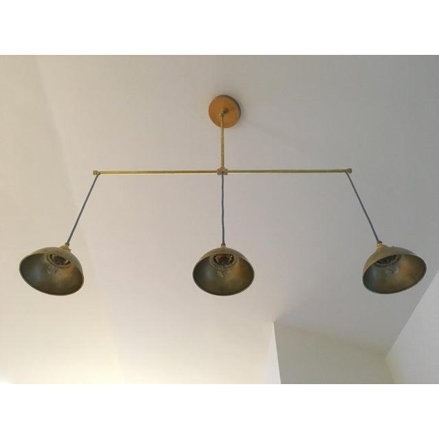 Brass 3-Light Pendant Light For Sale - Image 11 of 11