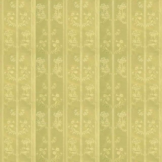 Suzanne Tucker Home Sample, Suzanne Tucker Home Pagoda Silk Fabric in Citrine For Sale - Image 4 of 4