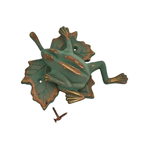 Green & Gold Frog Door Knocker - Image 4 of 7
