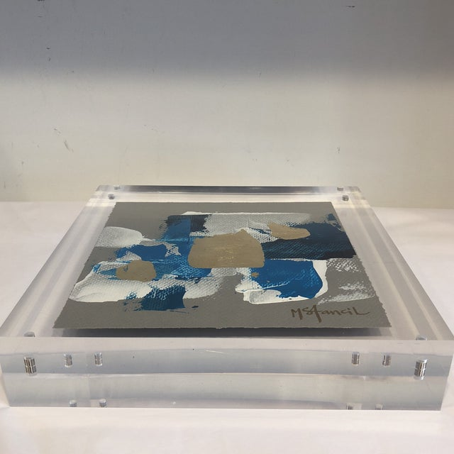 2010s Original Art Floating in Lucite For Sale - Image 5 of 13