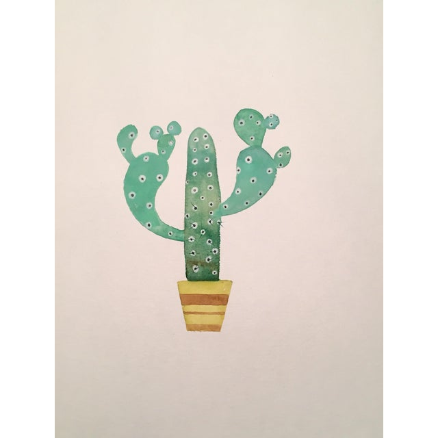 70's Cactus Watercolor - Image 1 of 2