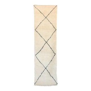 """Beni Ourain Moroccan Rug, 2'8"""" x 9'3"""" feet"""