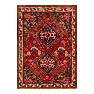"Apadana - Vintage Persian Shiraz Rug, 3'6"" x 5' For Sale"
