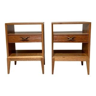 1960s Brown Saltman Mid-Century Nightstands - a Pair For Sale