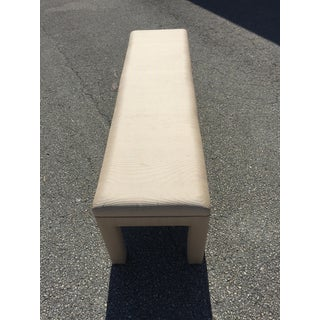 1970s Vintage Milo Baughman Style Upholstered Bench Preview
