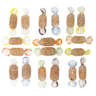 Murano Fused Glass Candy Collection, Set of 18 For Sale