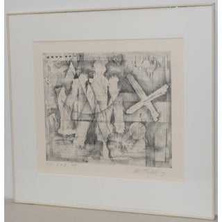 Danny Edwards Abstract Black & White Etching C.1989 Preview
