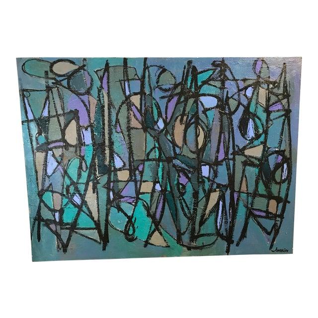 """Sea Moons"" Acrylic on Canvas by Artist Kenneth Joaquin For Sale"