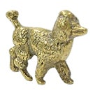 19th-C. English Brass Poodle For Sale