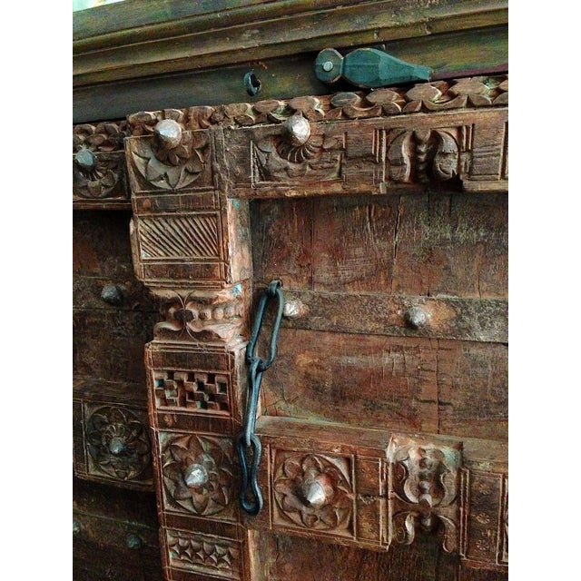 Vintage Hand-Carved Armoire - Image 3 of 4