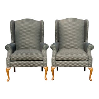 C R Laine Wingback Chairs - a Pair For Sale