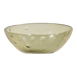 Large Modern Glass Bowl by Süssmuth For Sale