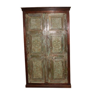 1920s Art Nouveau Hand Carving Cabinet For Sale