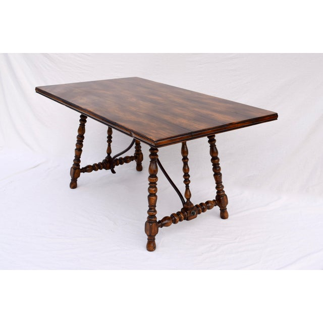 Spanish Spanish Colonial Style Dining Table by ABC Carpet & Home Center For Sale - Image 3 of 9