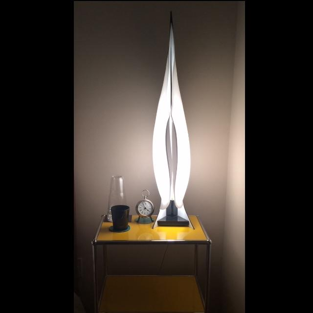 Large Rougier Lucite Sculptural Lamps - a Pair - Image 9 of 10