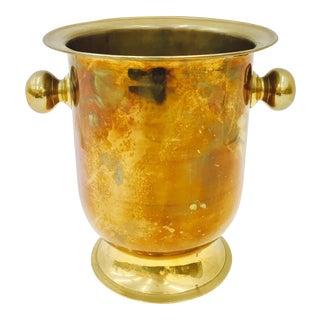 Vintage Brass Champagne Cooler Bucket