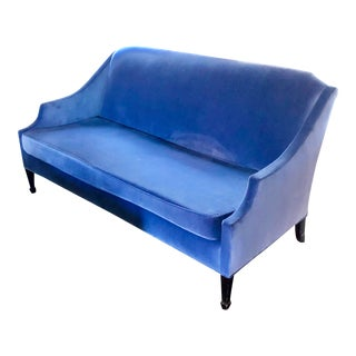 Niermann Weeks Thomas Sofa in Periwinkle Velvet For Sale