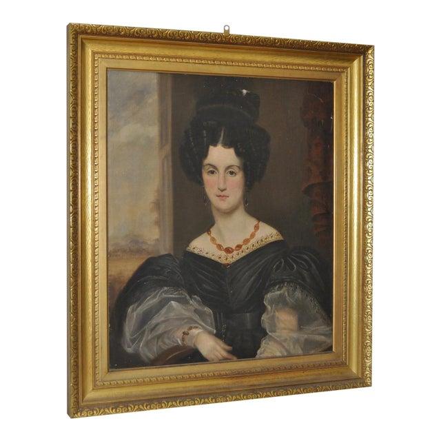 Antique Oil Portrait in Gilded Frame - Image 1 of 8