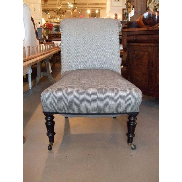 19th Century Napoleon III Slipper Chair For Sale - Image 10 of 10