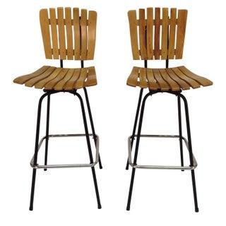 Arthur Umanoff Style Bar Stools - A Pair