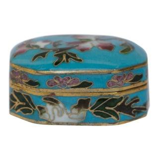 Petite Cloisonné Lidded Jewelry Box For Sale