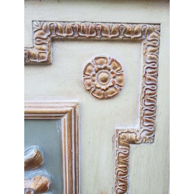 Antique White VintageFrench Provincial Style Mirror For Sale - Image 8 of 13