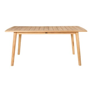 Modurn Teak Rectangular Outdoor Dining Table For Sale
