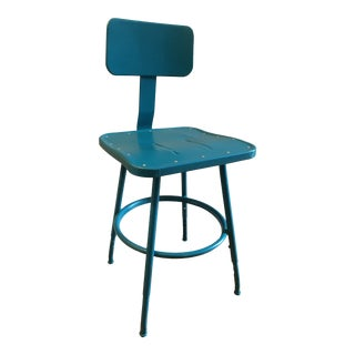 Mid Century Industrial Stool For Sale