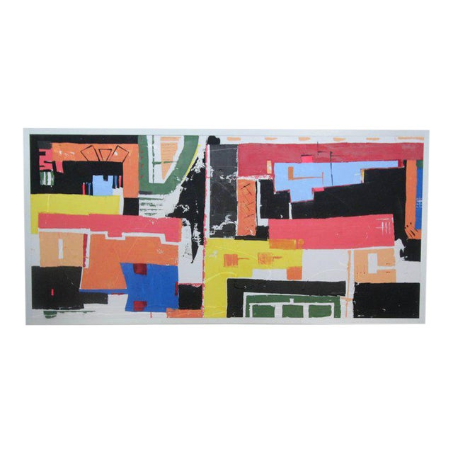 Monumental 8ft Modern Abstract Acrylic Painting on Canvas - Image 1 of 5