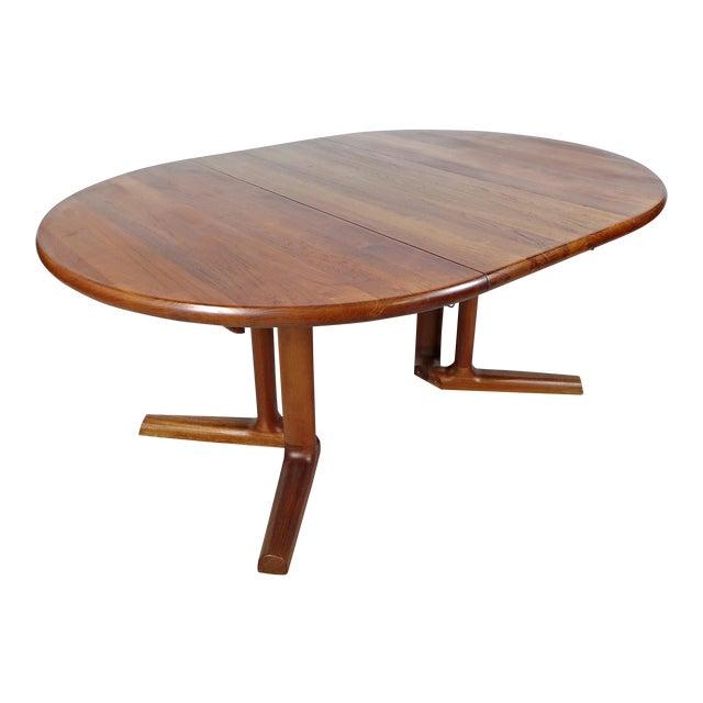 Dyrlund MidCentury Danish Solid Teak Dining Table Chairish - Solid teak dining table for sale
