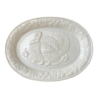 Ceramic Oval Turkey Platter
