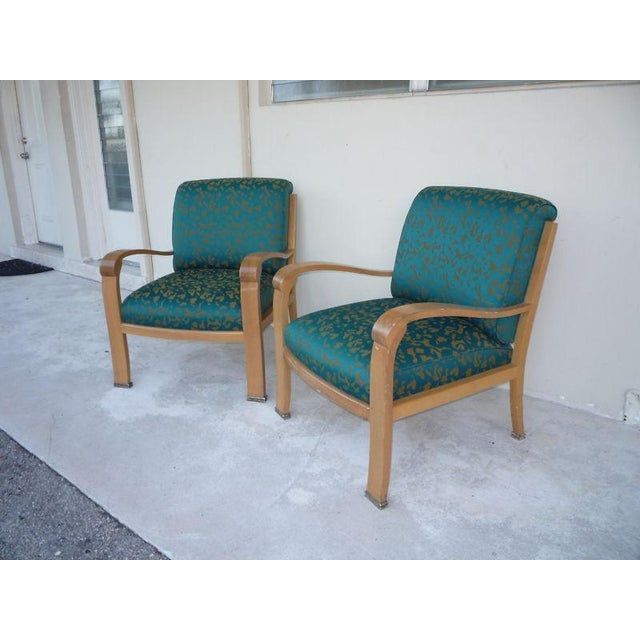 Pair of J. Robert Scott Sally Sirkin Lewis Deco Lounge Chairs For Sale In Miami - Image 6 of 13