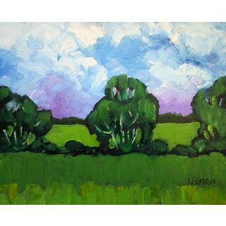 Salinas California Farm Garden Fields Rustic Landscape Painting Lynne French For Sale