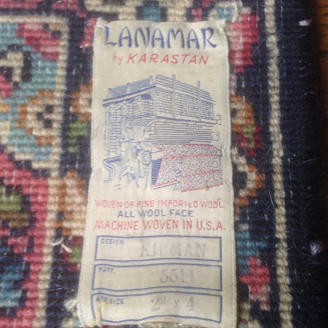 Mid 20th Century Vintage Karastan Oriental Small Rug - 2′2″ × 4′ For Sale - Image 5 of 13