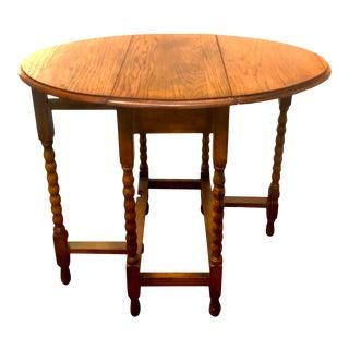 Antique Bobbin Twist Gate Leg Drop Leaf Table For Sale