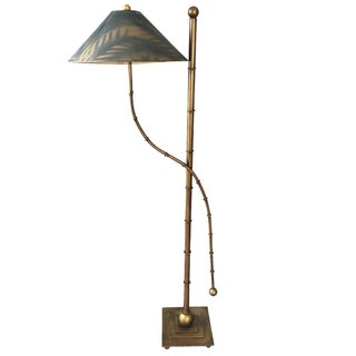Mid-Century Faux-Bamboo Floor Lamp For Sale