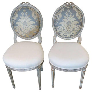 19th Century Antique French Side Chairs- A Pair For Sale