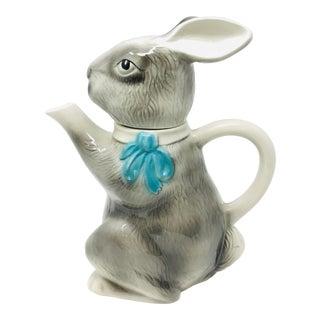 Mid 20th Century Tony Wood Staffordshire Porcelain Rabbit Tea Pot For Sale