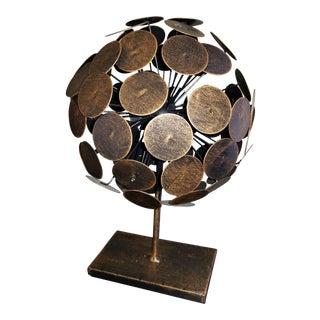"""Mid-Century Armillary Sphere Orb 14"""""""