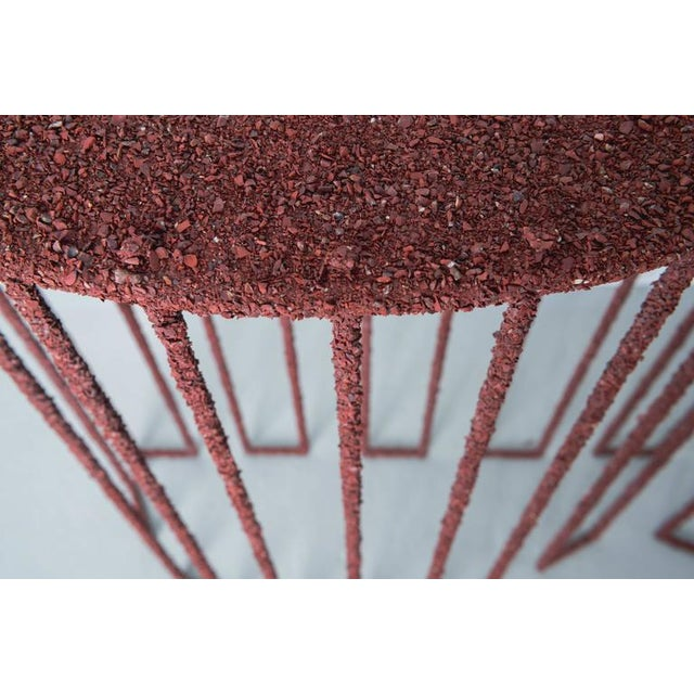 Red Hand Made Console of Crushed Red Jasper From India, by Samuel Amoia For Sale - Image 8 of 10