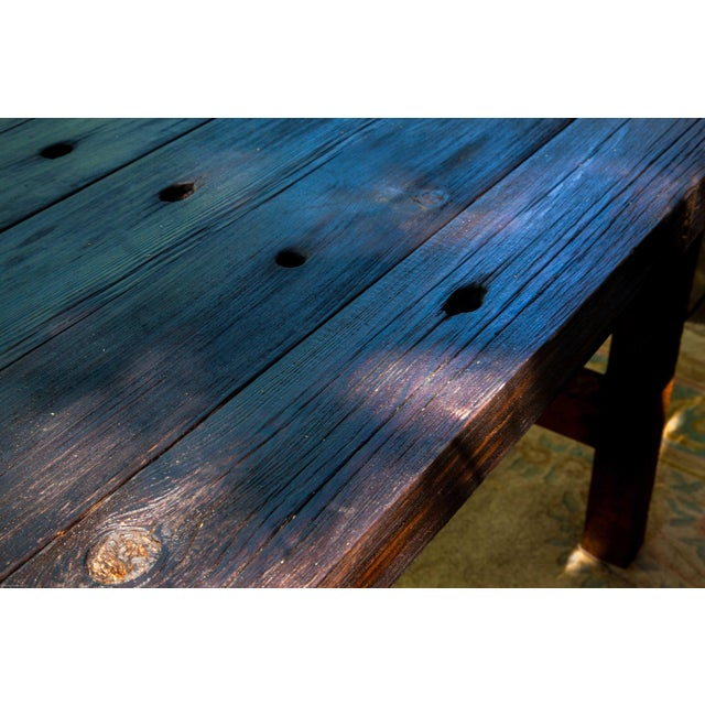 Wabi-Sabi Yakisugi Wood Dining Island Table Console For Sale In San Antonio - Image 6 of 11