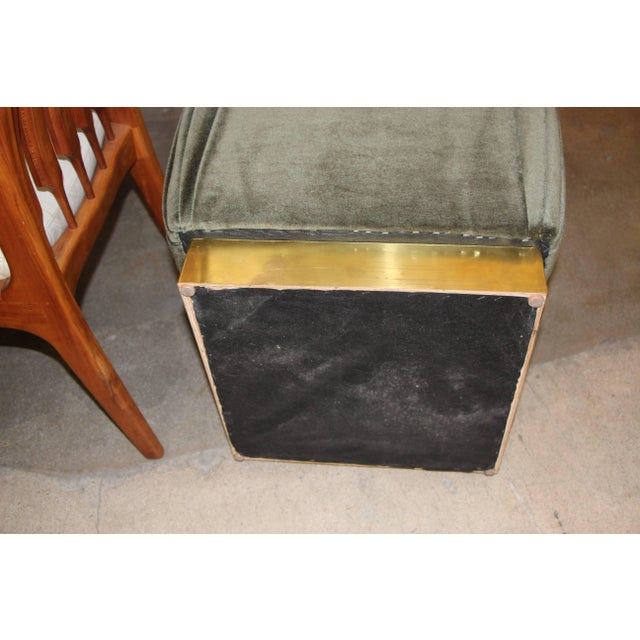 Mid 20th Century Vintage Ottomans- A Pair For Sale - Image 4 of 5
