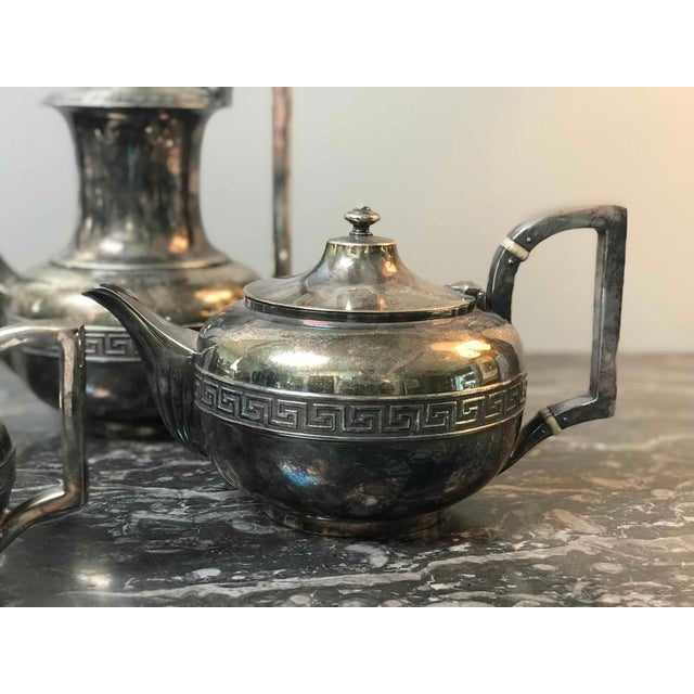 Mid-Century Modern Four-Piece Gorham Silver-Plated Tea and Coffee Set From the 1920s For Sale - Image 3 of 7