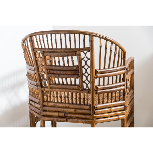 Brighton Bamboo Barrel Chairs by Thomasville Old Label, , A-Pair For Sale In West Palm - Image 6 of 12